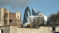 London skyline. Old and new. Stock Footage