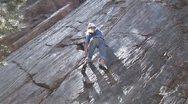 Rock Climb Female 2` Stock Footage