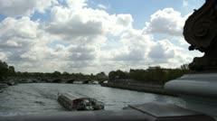 Alexander 3, the famous bridge in Paris Stock Footage
