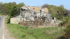 Broken down barn Stock Footage