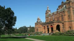 Entrance to Kelvingrove Art Gallery and Museum Glasgow Scotland Stock Footage