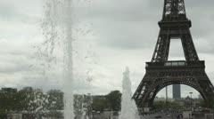 Artezian well near Eiffel Tower Stock Footage