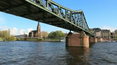 Bridge over Main, Frankfurt Stock Footage