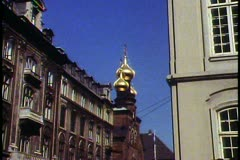 Copenhagen,  Russian Orthodox church, three onion domes Stock Footage