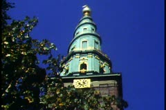 Copenhagen,  Our Savior Church,  top with stairs on the outside Stock Footage