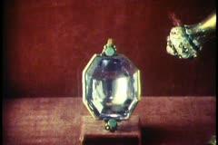Copenhagen,  Danish crown jewels, square cut amethyst, Stock Footage