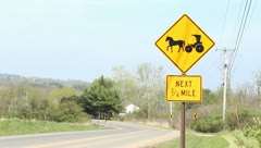 Amish Street Sign - stock footage