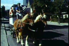 Copenhagen,  Horse drawn wagon for Carlsberg Brewery - stock footage