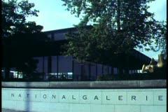 Berlin, Germany, Modern Art Gallery, wide shot Stock Footage