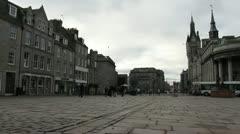 Traffic and pedestrians on Union Street Aberdeen Scotland Stock Footage