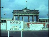 "Stock Video Footage of Berlin,  ""Achtung"" sign, graffiti, Berlin Wall, Brandenburg gate"