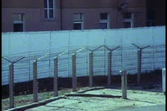 Berlin,  The Berlin Wall in 1988 (last year it stood), close up, DMZ - stock footage
