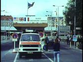 Stock Video Footage of Berlin,  The Berlin Wall in 1988, Checkpoint Charlie, American Zone