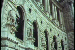 Vienna,  The Hofburg, medium shot, neoclassic facade, tilt down Stock Footage