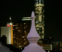 Night Skyline Stock Footage