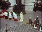 Rome, The Vatican, Papal Mass, Pope John Paul walks left to right Stock Footage