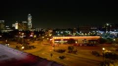 City Night Skyline Stock Footage