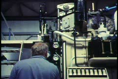 Holland, The Netherlands, Pumping station, modern hydro equipment Stock Footage