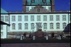Fredensborg Castle outside of Copenhagen,  medium shot, tilt up Stock Footage