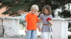 Walking together Stock Footage