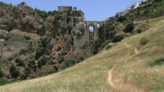 Spain Andalucia Ronda bridge 2 Stock Footage