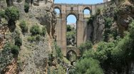 Stock Video Footage of Spain Andalucia Ronda bridge 3