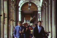 The arcade on the Rue du Rivoli, Paris,  Stock Footage