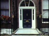 London,   Georgian House, medium close up of door and front, tilt up Stock Footage