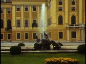 Stock Video Footage of Vienna,  Schonbrunn, Austria's Versailles, medium shot, fountain