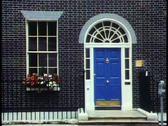 London,   Georgian House, medium close up of door and front Stock Footage