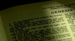 bible book of genesis - stock footage