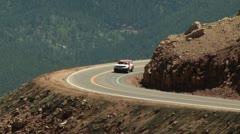 Hill Climb SUV Stock Footage