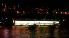 Dubrovnik by night Stock Footage