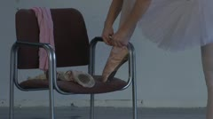 Ballet shoes Stock Footage