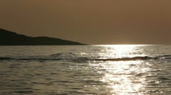 Adriatic sea sunset - stock footage