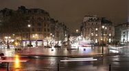 Stock Video Footage of Trafalgar Square roundabout. Timelapse. 25fps.
