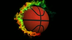Basket Ball in Particle Ring 1, with Alpha Channel - HD1080 Stock Footage