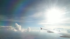 Flight clouds Stock Footage