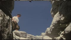 Hiking the Austrian Alps in the 1960s (vintage 8mm film) - stock footage