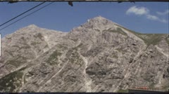 Cable railway in the Austrian Alps in the 1960s (vintage 8mm film) - stock footage