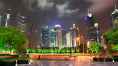 Shanghai Pudong Modern Financial Center. Timelapse. - stock footage