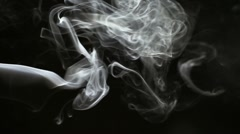 Smoke rising - stock footage