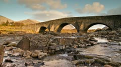 Old Highland Bridge Stock Footage