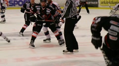 Scoring a goal in ice hockey - stock footage