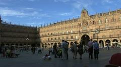Salamanca plaza 2 Stock Footage