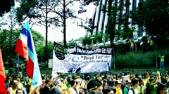 EDITORIAL, 28 april bersih 3.0 rally. The Coalition for Clean and Fair Elections - stock footage