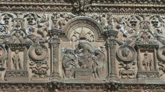 Salamanca university carving Stock Footage