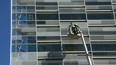 Cleaning Windows at The Crystal Stock Footage