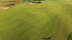 Aerial view of Golf Course in Poland by HeliDog_Aerials Stock Footage