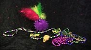 Mardi Gras Laser Light jewelry Stock Footage